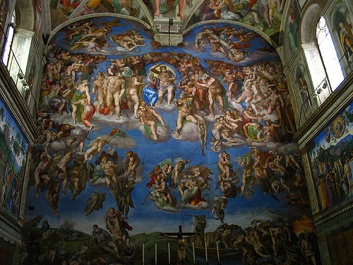 "Michelangelo's fresco ""The Last Judgement"" at the Sistine Chapel"