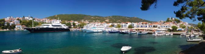 Skiathos Town Harbor
