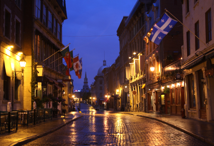 Rue Saint-Paul leading to the Bonsecours Market, Montreal