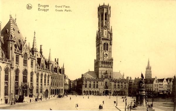 BrugesGrandPlacePostcard