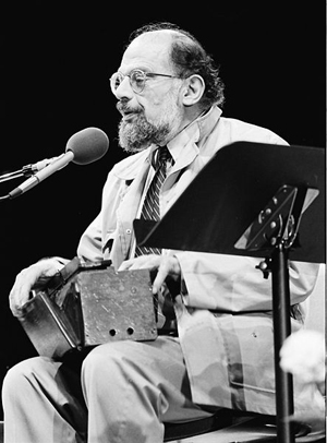 Allen Ginsberg, Miami Bookfair International, 7 November 1985: photo by MDCarchives
