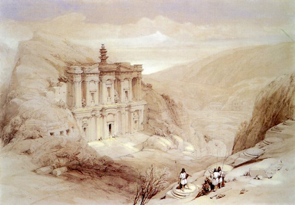 El Deir, Petra by David Roberts