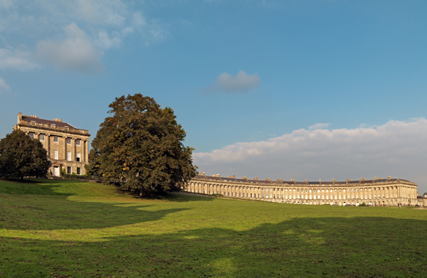 Royal Crescent, Bath (photo courtesy of visitbath.co.uk, Copyright: Bath Tourism Plus / Colin Hawkins)