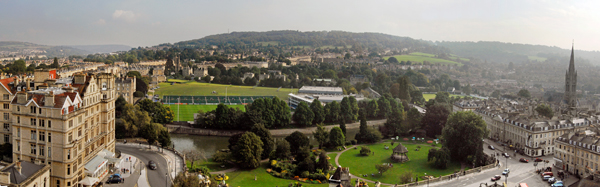 View of Parade Gardens from Bath Abbey (photo courtesy of: visitbath.co.uk Copyright: Bath Tourism Plus / Colin Hawkins)