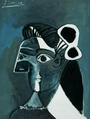Pablo Picasso, Woman's Head, 1963 oil on canvas