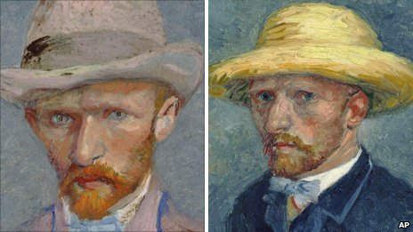 Left: Vincent van Gogh, Right: Theo van Gogh