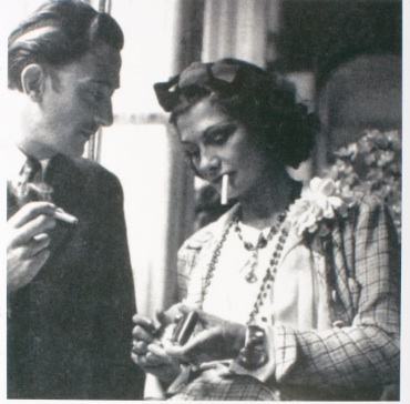 Coco Chanel and the artist Salvador Dalí