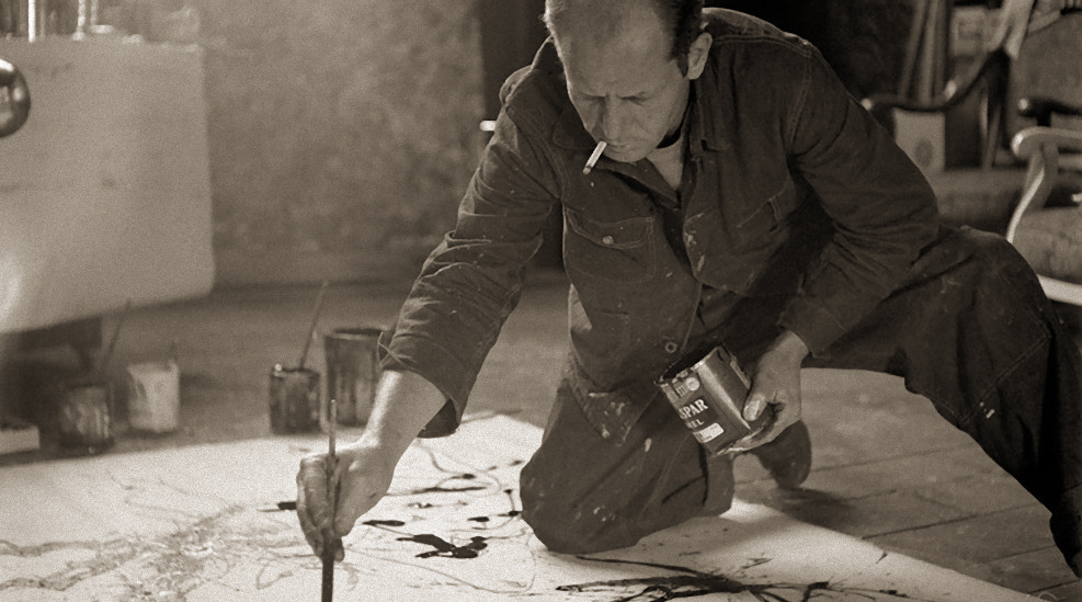 Jackson Pollock by Hans Namuth