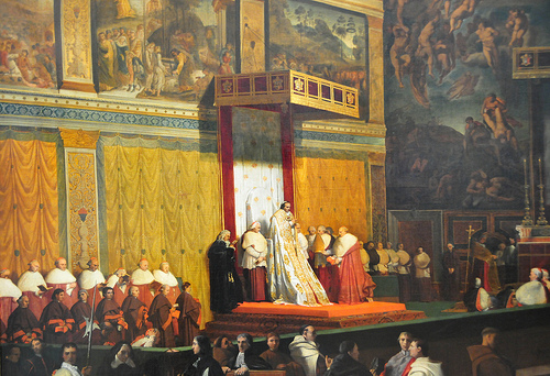 Pope Pius VII in Sistine Chapel by Jean-Augste-Dominique Ingres, 1814