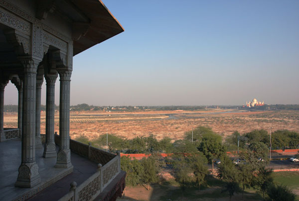 Shah Jahan viewed the Taj Mahal from the Agra fort during the last years of his life