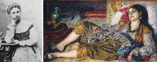 "Lise Trehot  and ""Odalisque (An Algerian Woman)"", 1870"