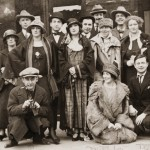 Group portrait of American and European artists and performers in Paris: Man Ray, Mina Loy,