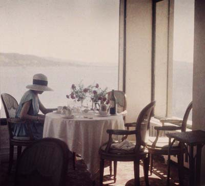 Bibi Lartigue at the Eden Roc, Hotel Cap d'Antibes, 1920