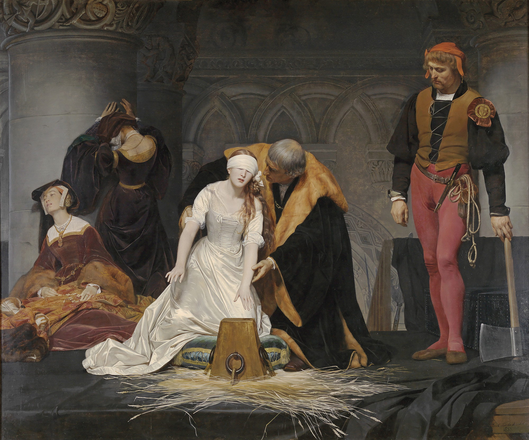 The Execution of Lady Jane Grey, 1833, Paul Delaroche