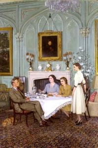 Conversation Piece at the Royal Lodge, 1950, James Gunn
