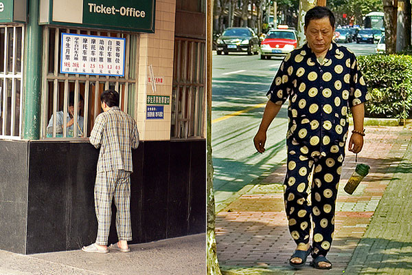 0c05ce2259 The reasons Chinese citizens wear their pjs in the streets are legion—tight  living conditions make the line between private and public hard to define