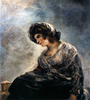 The Milkmaid of Bordeaux, attributed to Francisco Goya