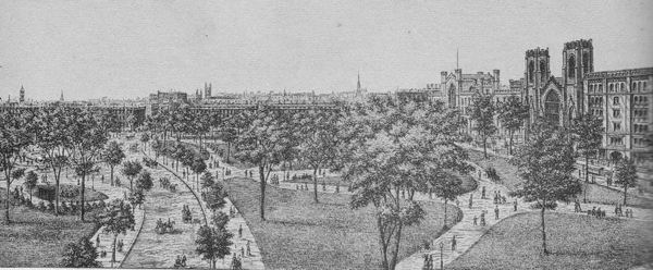 Washington Square Park in the 1880s, via Ephemeral NY