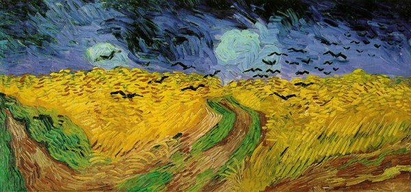 'Wheatfield with crows,' Vincent van Gogh, 1890, Van Gogh Museum, Amsterdam