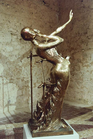'Woman Aflame' by Salvador Dali