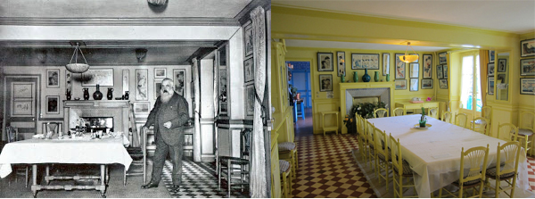 Then & Now: Monet's Dining Room